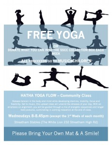 FREE / DONATION Community Yoga – Now on WEDNESDAYS 8pm in SW16