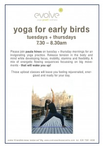Yoga for Early Birds Tuesdays + Thursdays