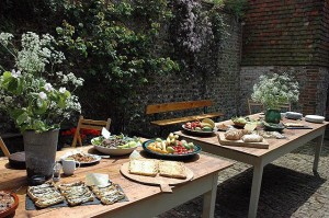 Delicious food on the Sally Parkes Yoga retreats at Tilton House