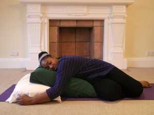 Experience a nurturing Restorative Yoga class on retreat at Florence House