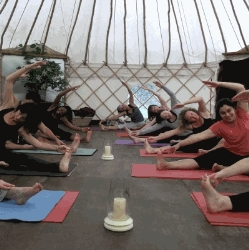 Yoga in the Yurt at Tilton House