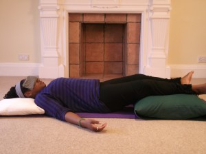 » this is not lying down  this is savasana adventures in